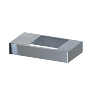 TraumGarten Pfostenträgerabdeckung für System-Pfosten Edelstahl - 3 x 8,5 x 16,5 cm