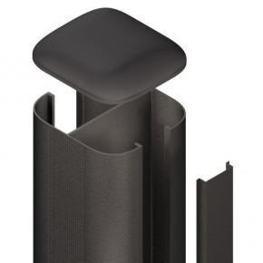 TraumGarten Zaunpfosten System Steckpfosten Set anthrazit zum Aufschrauben - 7 x 7 x 105 cm