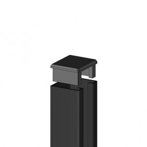 TraumGarten U-Steckprofil System Set anthrazit - 3 x 4 x 192 cm