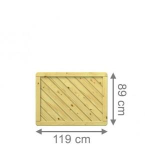 TraumGarten Sichtschutzzaun Holzzaun Gada Rechteck kdi - 119 x 89 cm