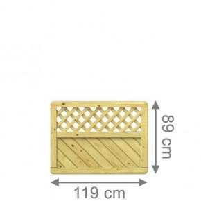TraumGarten Sichtschutzzaun Gada Rechteck mit Gitter kdi - 119 x 89 cm