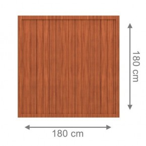 TraumGarten Sichtschutzzaun Kunststoff Longlife Riva Rechteck braun - 180 x 180 cm