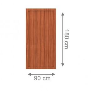 TraumGarten Sichtschutzzaun Kunststoff Longlife Riva Rechteck braun - 90 x 180 cm