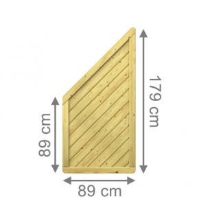 TraumGarten Sichtschutzzaun Nadelholz Gada Anschluss kdi - 89 x 179 auf 89 cm