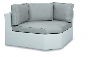 Best Lounge Kuba Eckteil Ergotex, Farbe: weiß-natur
