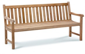 Best Teak-Bank Moretti 180cm, Farbe: grey wash