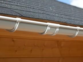 Karibu PVC Dachrinnen Verlängerungs-Set inkl. Fallrohr und Verbindungsmaterial