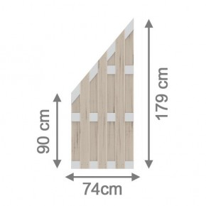 TraumGarten Sichtschutzzaun Jumbo WPC Aluminium-Design Anschluss sand 74 x 179 auf 90 cm