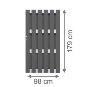 TraumGarten Gartentor Jumbo WPC Aluminium Design anthrazit 98 x 179 cm