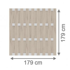 TraumGarten Sichtschutzzaun Jumbo WPC Alu-Design Rechteck sand - 179 x 179 cm