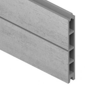 TraumGarten Einzelprofil System WPC grau - 15 x 2,1 x 178 cm
