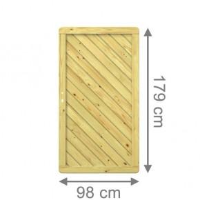 TraumGarten Sichtschutzzaun Holzzaun  Gada Tor gerade kdi - 98 x 179 cm