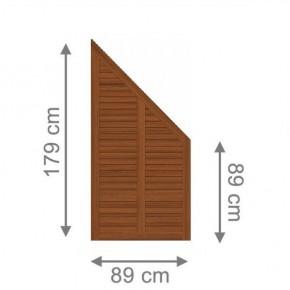 TraumGarten Sichtschutzzaun Grazia Anschluss braun lasiert - 89 x 179 auf 89 cm