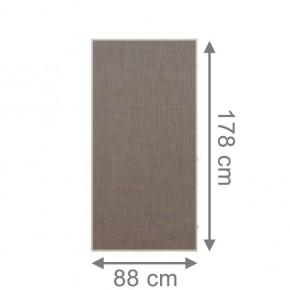 TraumGarten Sichtschutzzaun Textil-Geflecht Weave LÜX Rechteck bronze - 88 x 178 cm