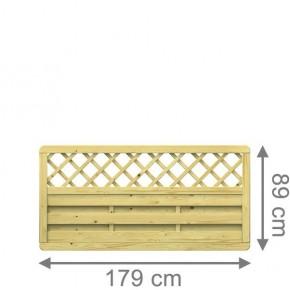 TraumGarten Sichtschutzzaun XL Rechteck kdi mit Gitter - 179 x 89 cm