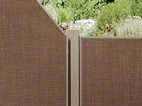 TraumGarten Zaunpfosten Weave bronze - 6 x 6 x 150 cm