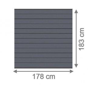 TraumGarten Sichtschutzzaun System WPC Set anthrazit / anthrazit - 178 x 183 cm