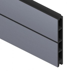 TraumGarten Einzelprofil System WPC anthrazit - 15 x 2,1 x 178 cm