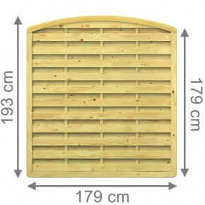 TraumGarten Sichtschutzzaun XL Rundbogen kdi - 179 x 179 (193) cm