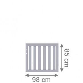 TraumGarten Vorgartenzaun Longlife Cleo Einzeltor DIN LI/RE grau - 98 x 85 cm