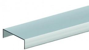 TraumGarten Aufsatzleiste Aluminium für gerade Elemente Jumbo WPC - Abmessungen: 4 cm x 179 cm