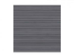 TraumGarten Sichtschutzzaun System Platinum XL Zaunset grau, Silber-Leiste