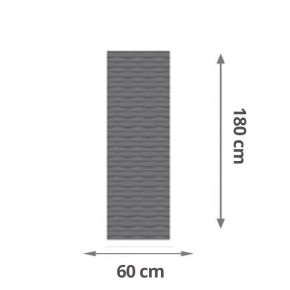 TraumGarten Sichtschutzzaun Flow Aluminium Rechteck Farbe anthrazit - 60 x 180 x 2 cm