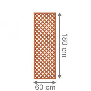TraumGarten Rankgitter Kunststoff Longlife Rechteck braun - 60 x 180 cm