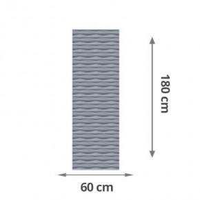 TraumGarten Sichtschutzzaun Flow Rechteck Farbe silber - 60 x 180 x 2 cm