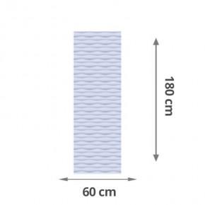 TraumGarten Sichtschutzzaun Flow Aluminium Gitter Farbe silber - 60 x 180 x 2 cm