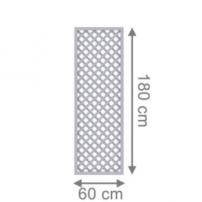 TraumGarten Rankgitter Longlife Rechteck grau - 60 x 180 cm