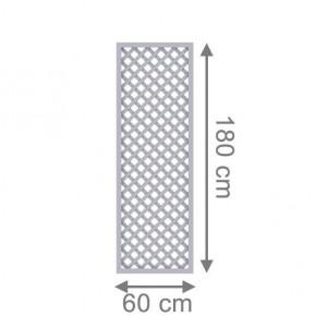 TraumGarten Rankgitter Kunststoff Longlife Rechteck grau - 60 x 180 cm