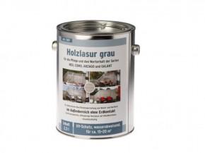 TraumGarten Holzlasur für Zaun/Gartenhaus Imprägnierlasur KORANOL Grau - 2,5 Liter