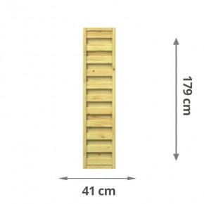 TraumGarten Sichtschutzzaun Lettland Rechteck kdi - 41 x 179 cm
