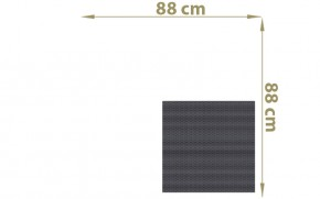 TraumGarten Sichtschutzzaun Textil-Geflecht Weave Rechteck anthrazit - 88 x 88 cm