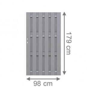 TraumGarten Sichtschutzzaun Jumbo WPC Tor grau - 98 x 179 cm