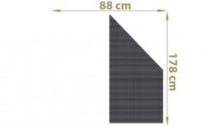 TraumGarten Sichtschutzzaun Textil-Geflecht Weave Anschluss anthrazit - 88 x 178 auf 88 cm