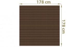 TraumGarten Sichtschutzzaun Textil-Geflecht Weave Rechteck mocca - 178 x 178 cm