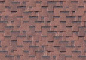 Karibu Dachschindeln Asymmetrisch - rot 3m² Pakete