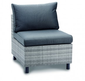 Best Lounge Mittelteil Bonaire warm-grey