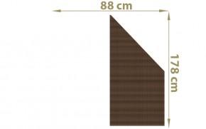 TraumGarten Sichtschutzzaun Textil-Geflecht Weave Anschluss mocca - 88 x 178 auf 88 cm