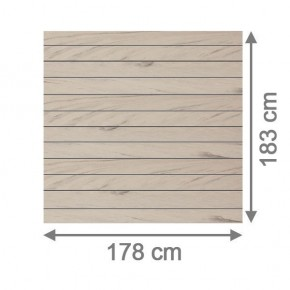 TraumGarten Sichtschutzzaun System WPC Set sand / anthrazit - 178 x 183 cm