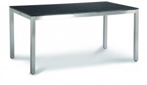 Best Tisch Marbella 160x90cm Edelstahl/Ardesia