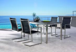 Best 5-tlg. Freischwingsessel Marbella+Tisch 160x90cm