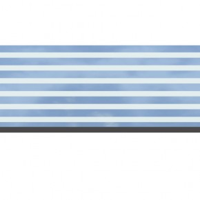 TraumGarten Dekorprofil System Set Delta-Design Sicherheitsglas - 30 x 178 cm
