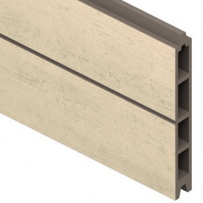 TraumGarten Einzelprofil System WPC sand - 15 x 2,1 x 178 cm