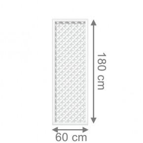 TraumGarten Rankgitter Longlife Rechteck weiß - 60 x 180 cm