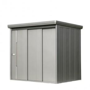 Wolff Finnhaus Metall-Gartenhaus Sapporo 2215 rauchgrau, komplett, m. Tür Wandmaß: 220 x 159