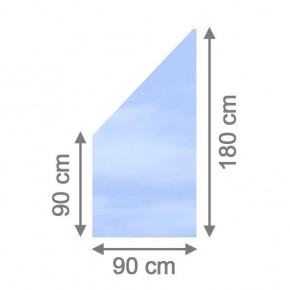 TraumGarten Sichtschutzzaun System Glas Klar Anschluß - 90 x 180/90 x 0,8 cm