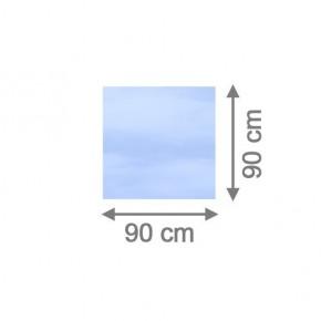 TraumGarten Sichtschutzzaun System Glas Klar Rechteck - 90 x 90 x 0,8 cm